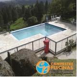 pedras para decorar piscinas Vila Mazzei