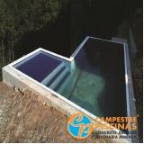 pedras para piscina branca orçar Jardim Europa