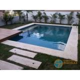 piscina de alvenaria armada com azulejo orçar Santos