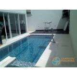 piscina de alvenaria armada com azulejo Cursino