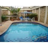 piscina de alvenaria armada com deck Vila Marcelo