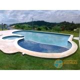 piscina de alvenaria armada com escada orçar Vale do Paraíba