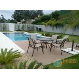 piscina de alvenaria armada com escada Brasilândia