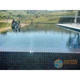 piscina de alvenaria armada no terraço Belém