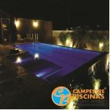 piscina de alvenaria com azulejo Pardinho