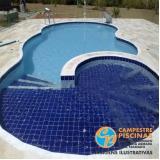 piscina de alvenaria com deck preço Jardim Guedala