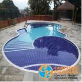 piscina de alvenaria com escada preço Bertioga