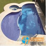 piscina de alvenaria com fibra preço Porto Feliz