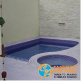 piscina de alvenaria com hidro preço Jardim das Acácias