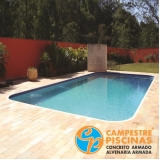 piscina de alvenaria com prainha preço Jardim das Acácias