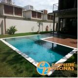 piscina de concreto com cascata para recreação preço Cosmópolis