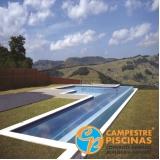 piscina de concreto com deck para condomínio preço Quadra