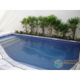 piscina de concreto com revestimento preço Interlagos