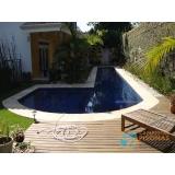 piscina de concreto com revestimento São Vicente