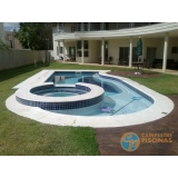 piscina de concreto com sauna preço Hortolândia