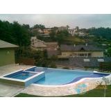 piscina de concreto com solarium preço Chora Menino