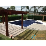 piscina de concreto com spa Interlagos