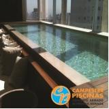 piscina de concreto para academia preço Vila Albertina