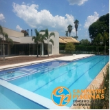 piscina de concreto para chácara preço Potim