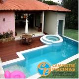 piscina de concreto residencial preço Elias Fausto