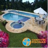 piscina de concreto residencial Queluz