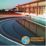 piscina de fibra borda infinita preço Anália Franco