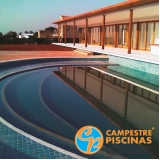 piscina de fibra borda infinita preço Várzea Paulista