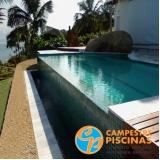 piscina de fibra borda infinita Lagoinha