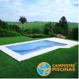 piscina de fibra para apartamento preço Potim