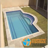piscina de fibra para chácara preço Mairiporã