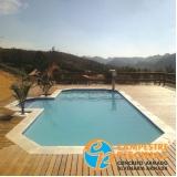 piscina de fibra para chácara Biritiba Mirim