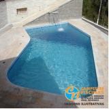 piscina de fibra para laje preço Elias Fausto