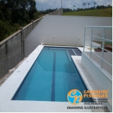 piscina de fibra para terraço preço Pardinho