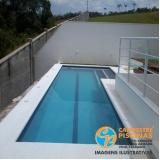 piscina de fibra para terraço preço Ibirapuera