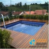 piscina de fibra para terraço Jardins