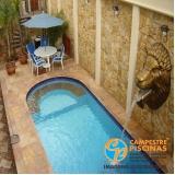 piscina de vinil com deck preço Cubatão