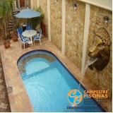 piscina de vinil com deck preço Cunha