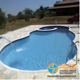 piscina de vinil com deck Parque São Domingos
