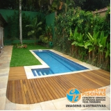 piscina de vinil para academia preço Araras