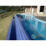 piscina em vinil com borda sem fim valor Valinhos