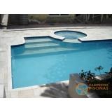 piscina em vinil com sauna Mongaguá