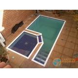 piscina em vinil com visores valor Mooca