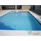 piscinas de alvenaria armada no terraço Vila Romana