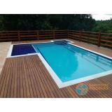 piscina de alvenaria armada no terraço