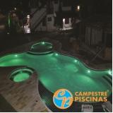 piscina de alvenaria com fibra