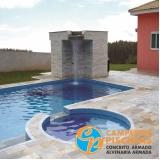 piscina de alvenaria no terraço