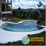 piscinas de concreto com deck Guararema