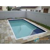 piscinas de concreto com prainha Araras
