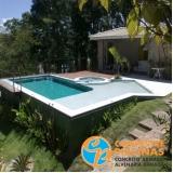 piscinas de fibra com prainha Parque Mandaqui
