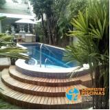 piscinas de vinil com deck Parque Peruche